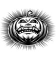 pumpkin smiling halloween harrasment horror vector image