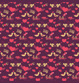 14 february valentines day seamless pattern vector image vector image