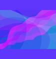abstract blue and pink wavy background vector image vector image