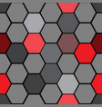 abstract red gray hexagon pattern seamless vector image