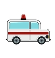 Ambulance cartoon icon on white background vector image vector image