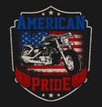 american biker pride vector image vector image