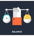 Balance vector image vector image