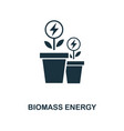 biomass energy icon monochrome style design from vector image vector image