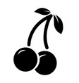 black cherry icon isolated on white vector image