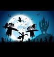 blue backgroundfestival halloween conceptfull vector image vector image