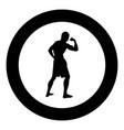 bodybuilder showing biceps muscles bodybuilding vector image