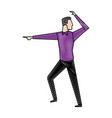 businessman successful gesturing pointing vector image vector image