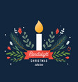 candle and ornaments christmas eve candlelight vector image vector image
