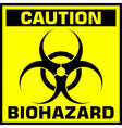caution biohazard sign vector image vector image