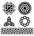 Celtic Irish patterns and knots vector image