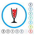 champagne glass rounded icon vector image vector image