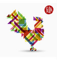 chinese new year rooster abstract color design vector image vector image