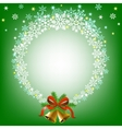 Christmas snowy frame vector image vector image