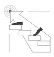 climbing up the stairs vector image
