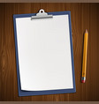 clipboard with blank sheet vector image vector image