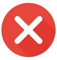 close no icon vector image vector image
