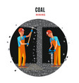coal extraction flat template vector image vector image