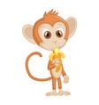 cute funny monkey colorful cartoon