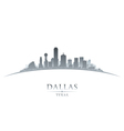 Dallas Texas city skyline silhouette vector image vector image