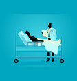 doctor visiting his patient vector image vector image