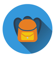 Flat design icon of School rucksack in ui colors vector image