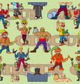 funny cartoon circus artist cheerful joyful vector image