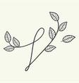 handwritten letter v monogram or logo brand vector image