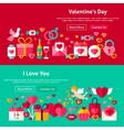 Happy Valentine Day Website Banners vector image vector image