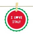 I lOVE ITALY4 vector image