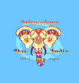 independence day of india poster with elephant vector image vector image