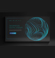 information digital concept futuristic technology vector image
