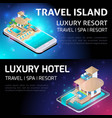 isometry bright concept of luxurious resort vector image