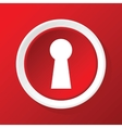 Keyhole icon on red vector image vector image