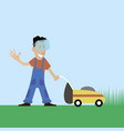 lawnmower man vector image vector image