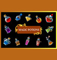 magic potion game background vector image vector image