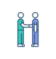 medical coworking rgb color icon vector image