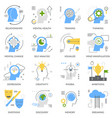 mental concept flat icons vector image