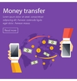 Mobile money transfer concept vector image vector image