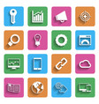 Modern Internet Marketing Icons vector image vector image