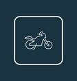 motorcycle icon line symbol premium quality vector image