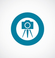 photo camera tripod icon bold blue circle border vector image vector image