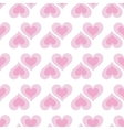 Pink hearts seamless bakground pattern vector image vector image