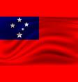 realistic waving flag waving flag samoa vector image vector image