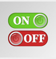 red and green on and off power buttons vector image