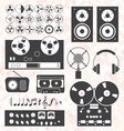 Retro Music Recording Equipment Object vector image vector image
