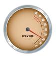 Retro tachometer vector image vector image
