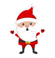 santa claus icon cute christmas holiday symbol vector image