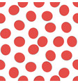seamless geometric pattern red hole on white vector image vector image