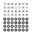 set of audio and video symbols vector image vector image